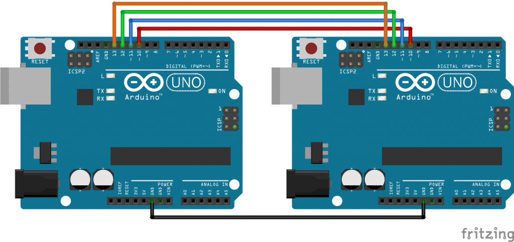Circuit for Using SPI in Arduino